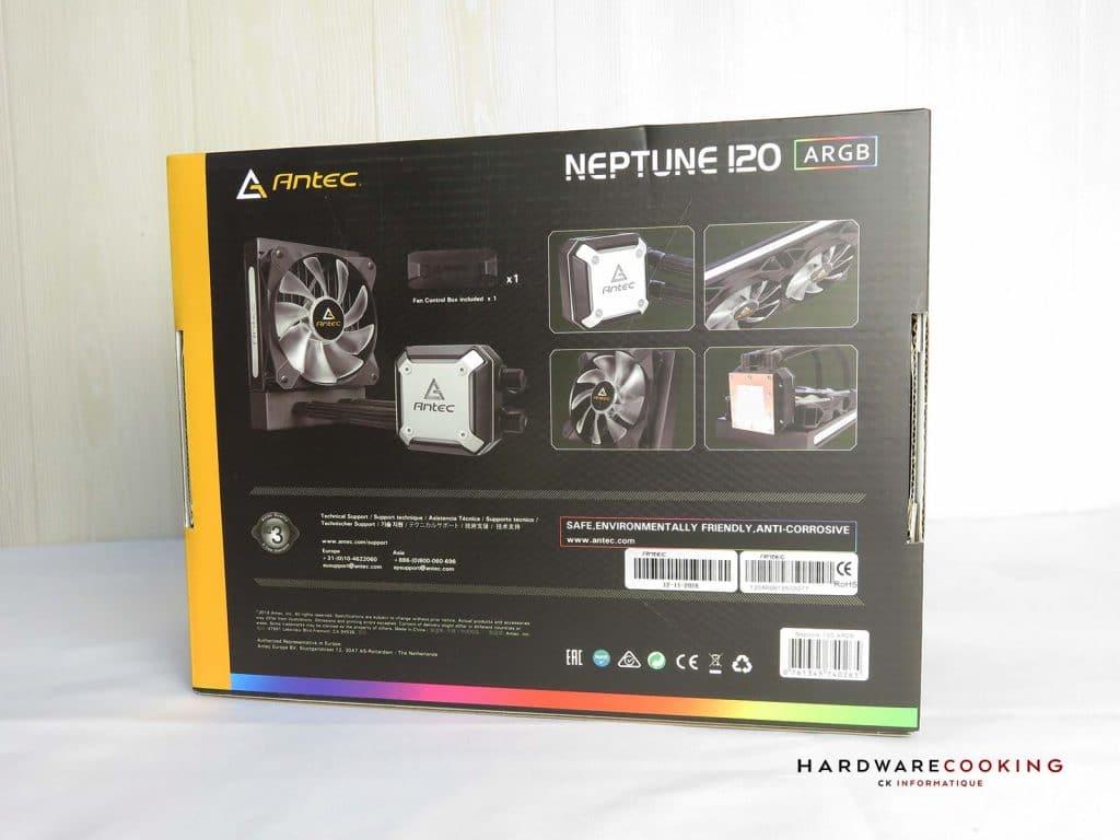 ANTEC Neptune 120 ARGB boîte arrière