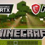 Test Minecraft RTX DLSS carte graphique MSI RTX SUPER