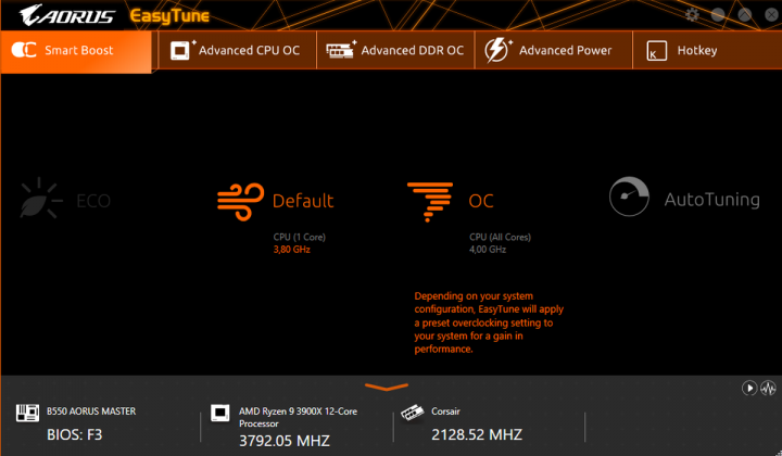 AORUS APP Center EasyTune