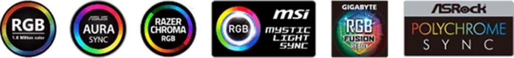 gestion RGB cartes mères