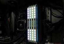 Test CORSAIR Dominator Platinum White allumée