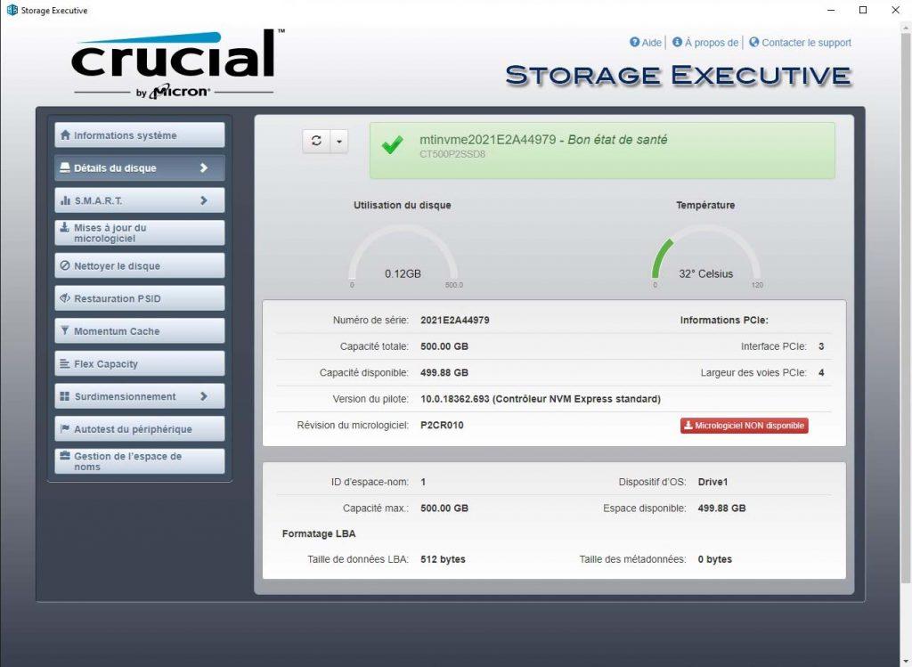 Crucial Storage Executive