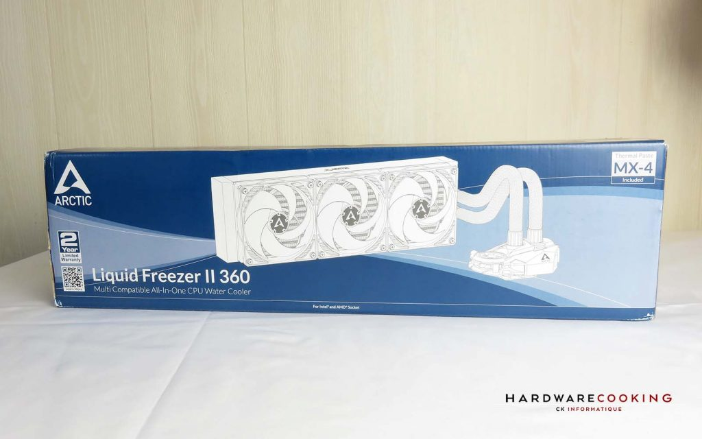 Test ARCTIC Liquid Freezer II 360 boîte avant