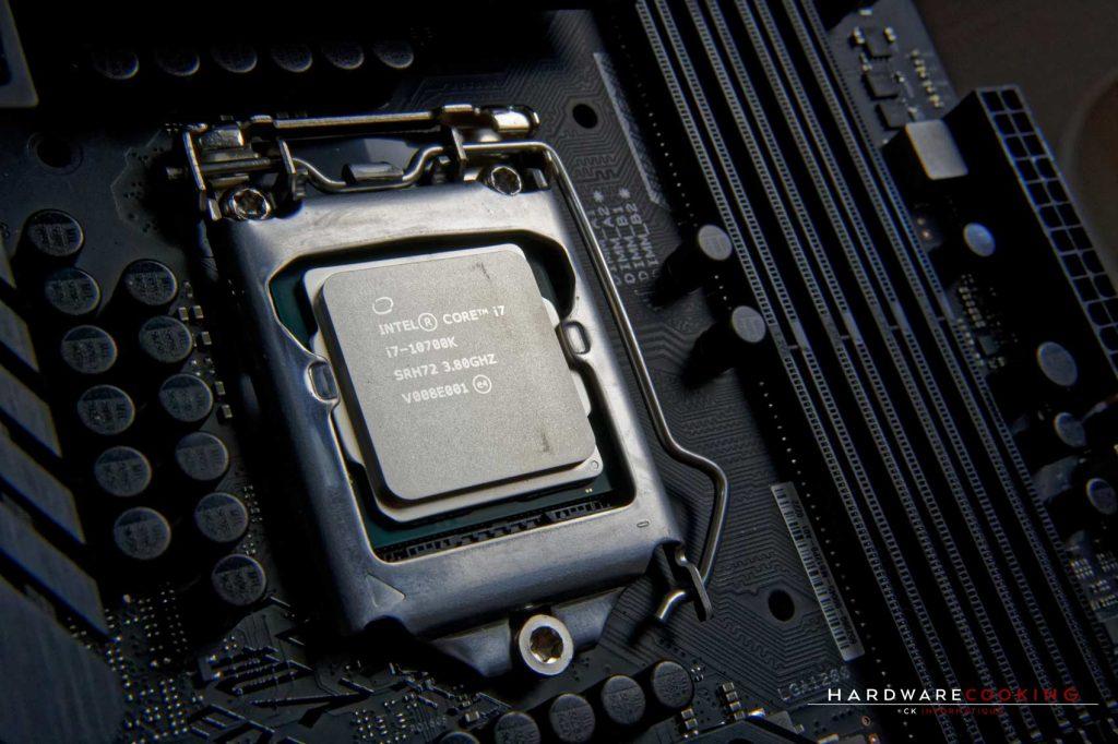 Test processeur Intel Core i7-10700K