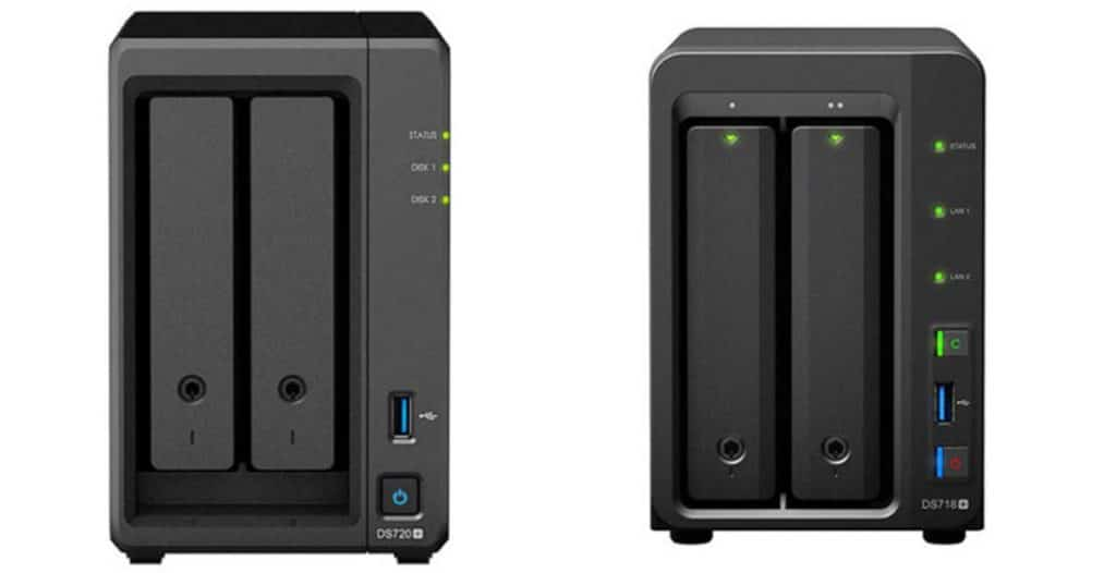 Synology DS720+ contre Synology DS718+DS