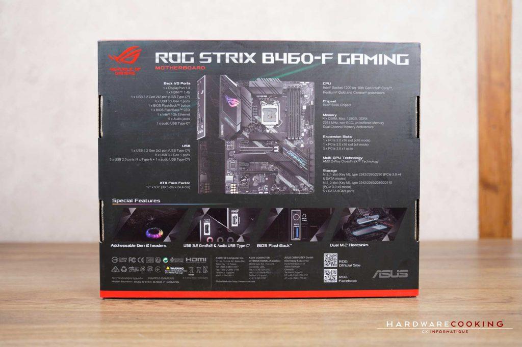 carton ASUS ROG STRIX B460-F GAMING