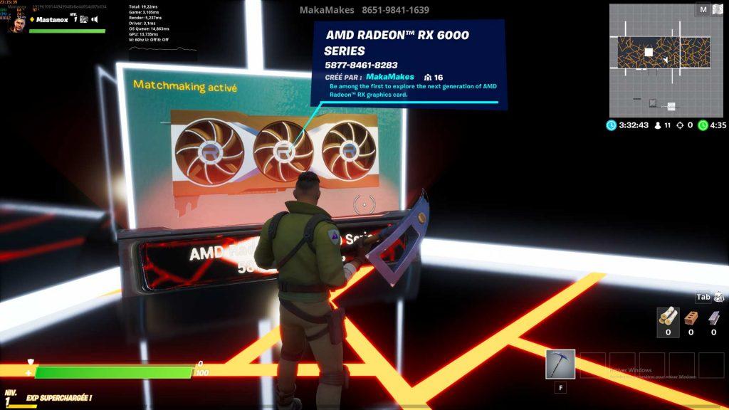 AMD Radeon RX 6000 Series annonce Fortnite
