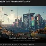 Cyberpunk 2077 ne prendra pas 200 Go d'espace
