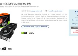 Prix GIGABYTE RTX 3090 GAMING OC 24G