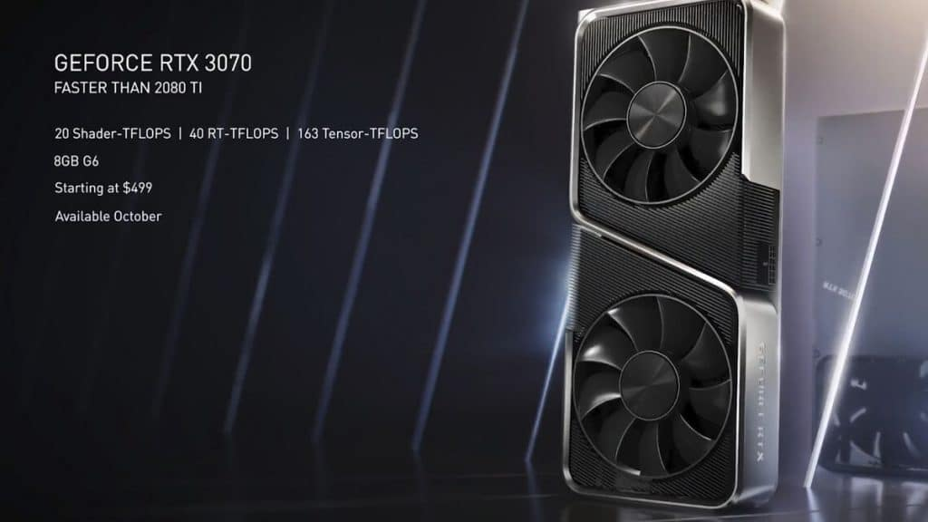 Nvidia GeForce RTX 3070 500 dollars