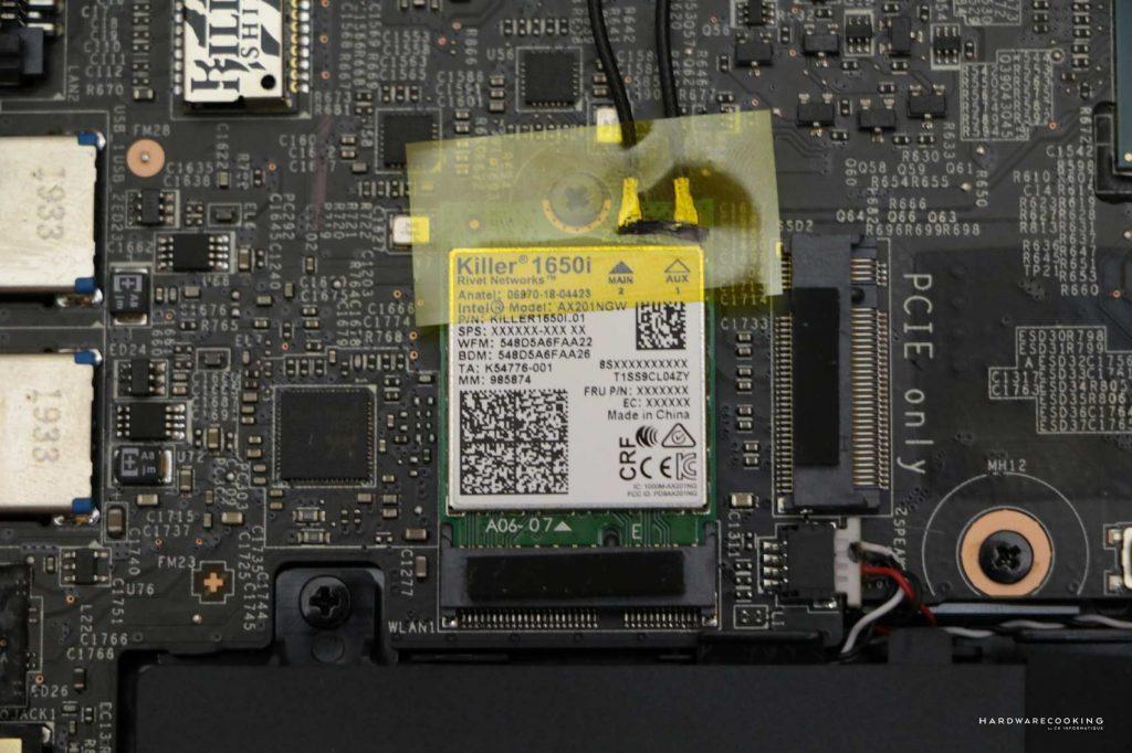 Carte WiFi MSI GS66 Stealth 10SGS 014FR