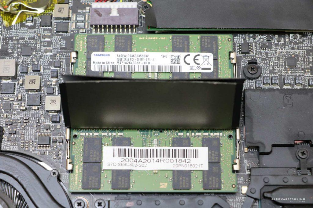 Barettes de mémoires MSI GS66 Stealth 10SGS 014FR