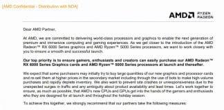 AMD Radeon RX 6000 mesures Scalping