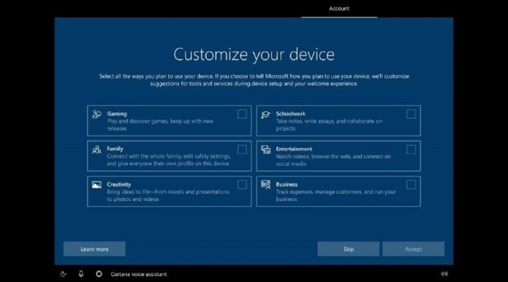 Windows 10 build 20231
