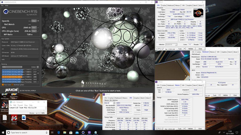 Cinebench R15 AMD Ryzen 5 5600X