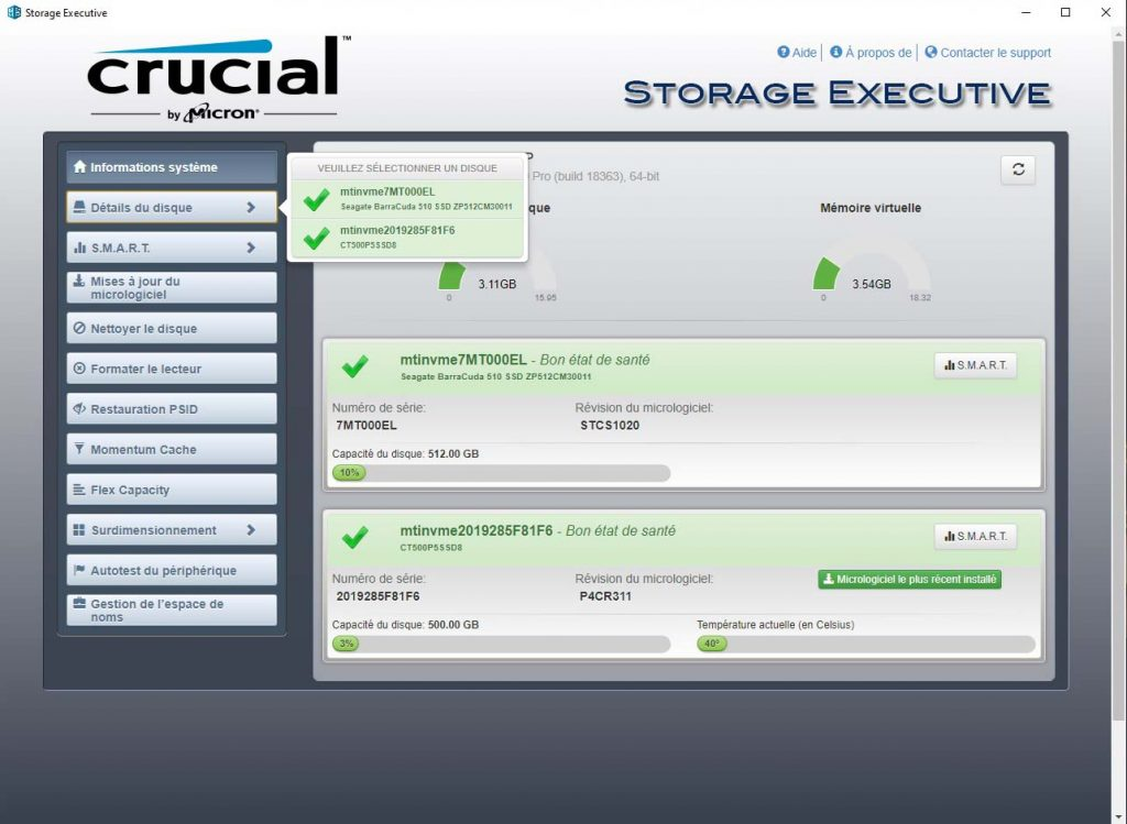 Storage Executive Détails