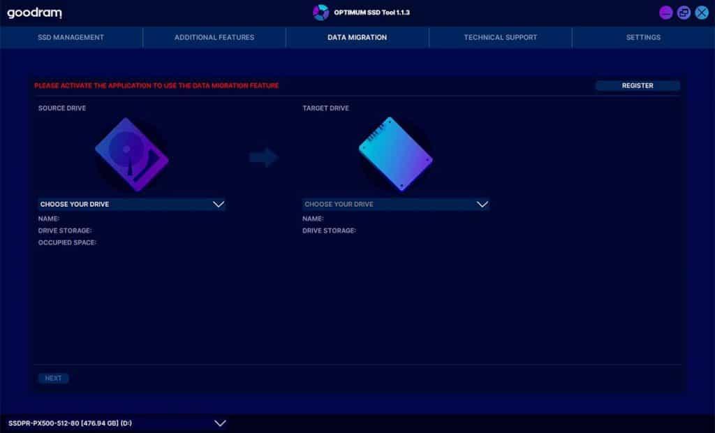 Optimum SSD Tool Data Migration