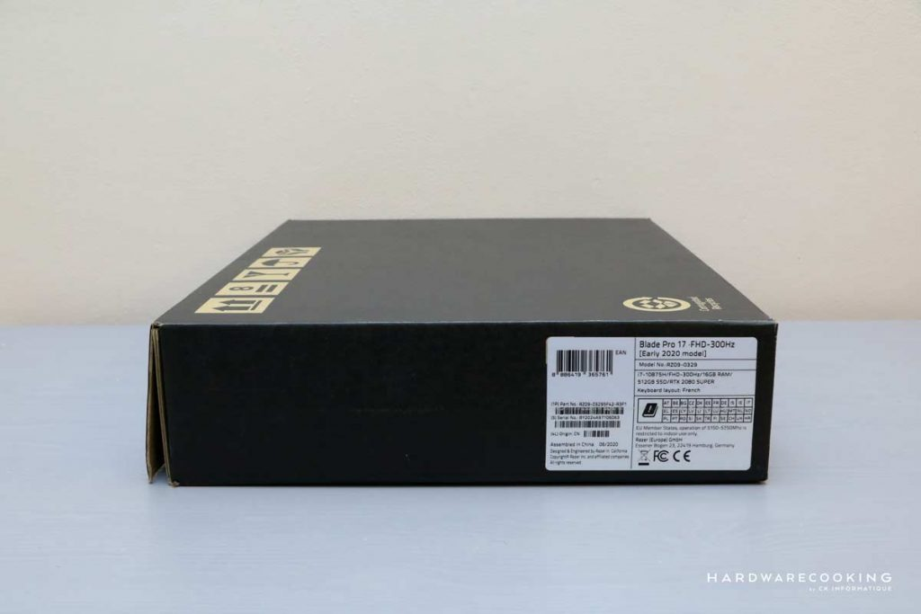 Packaging Razer Blade Pro 17