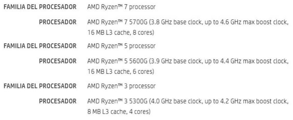Famille de processeurs APU AMD Ryzen 5000