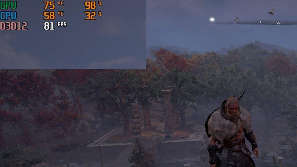 Assassin's Creed Valhalla FPS en jeu