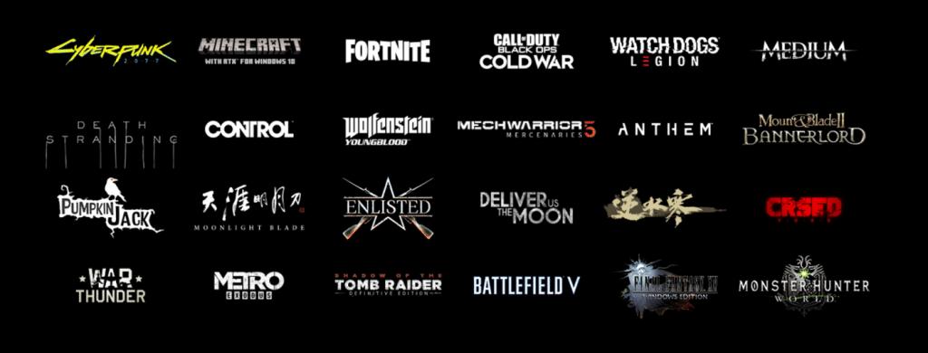 jeux vidéos avec NVIDIA DLSS
