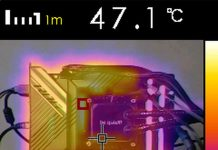 Test température VRM caméra thermique ASUS ROG MAXIMUS XIII HERO
