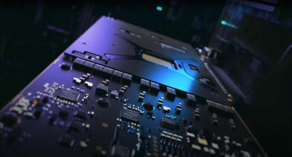 Teasing PCB carte graphique AMD Radeon Pro W6800