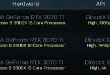Benchmark RTX 3070 Ti AotS