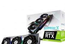 Stock MSI GeForce RTX 3080 SUPRIM X